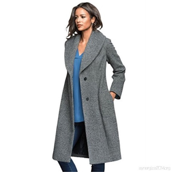 885dc8d1e81 Roamans Women s Tweed Shawl Collar Coat 20w